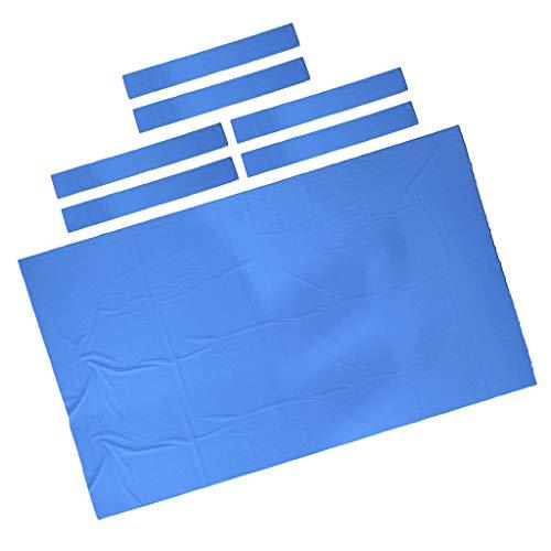 SM SunniMix Kit De Remplacement en Feutre pour Table De Billard De 9ft 0.6mm, Premium & Durable Protecteur De Housse en Tissu De Billard - Bleu, 2,8x1,5m