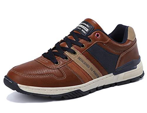 ARRIGO BELLO Zapatillas Hombre Zapatos de Casual Sneakers Vestir Deportivas Confort Jogging Transpirables Sneaker Talla 41-46(Marrón, 43)