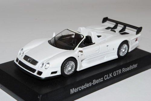 Kyosho Mercedes-Benz AMG CLK GTR Roadster Weiss 2002 1/64 Modell Auto mit individiuellem Wunschkennzeichen