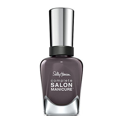 Sally Hansen Complete Salon Manicure Nagellack, Talk is Chic, limitierte Edition mit Keratinkomplex und glänzendem, Farbe 445, Dunkelgrau, 1er Pack (1 x 14,7 ml)