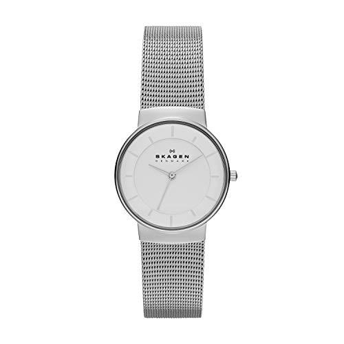 Skagen Damen Analog Quarz Uhr mit Edelstahl Armband SKW2075