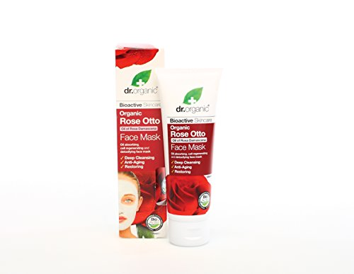 Dr Organic Rose Otto Face Mask 125ml (anti-edad, Deep Cleansing, Rest ORING). We Ship Worldwide by Dr. Organic
