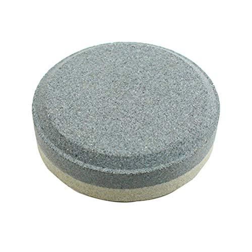 LIOOBO Piedra de Cuchillos Redonda Afilador de Cuchillos de Múltiusos Piedra de Afilar de Doble Cara para la Concina el Hog