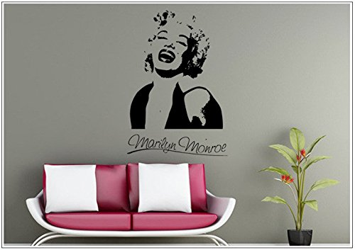 Deco-idea Wandtattoo wandaufkleber wandsticker Photo Porträt Marilyn Monroe wph008(Printed Sticker,ca.15 x 6cm)