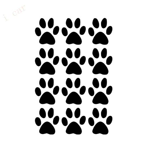 Car Stickers and Decals 12 Puppy Cat Cat Paw Print Wall Stickers Home Decor Storage Cabinet Glass Window Door Laptop Computer Food Dish Pet Bowl Sticker-Light Gray-7cmx5cm