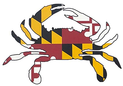 Maryland Crab State Flag Decal - Auto Vinyl Decal Sticker - 4x6 All Weather Vinyl Decal Sticker (1 Decal Sticker)