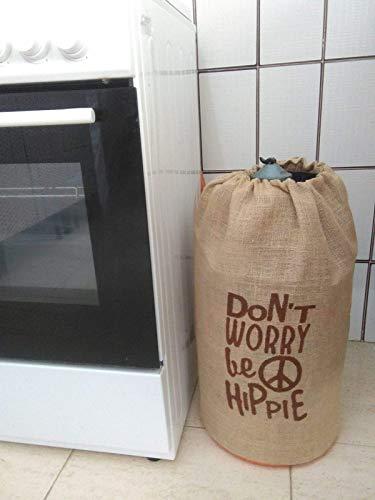 potente para casa Tapas de botellas de butano decoradas con hippies, no te preocupes