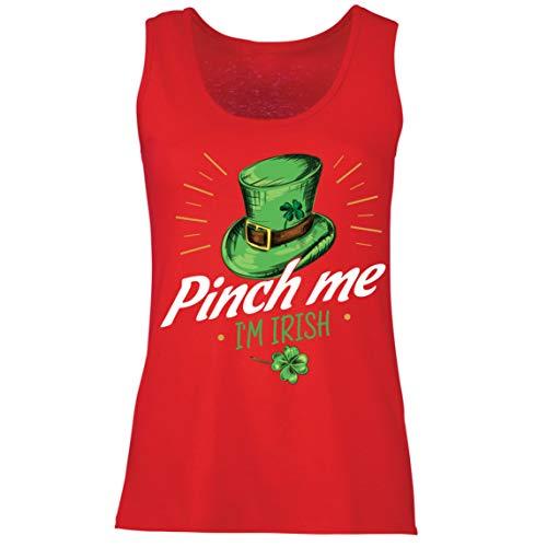 lepni.me Camisetas sin Mangas para Mujer Pellizco yo Soy Irlands Da de San Patricio Divertido Traje de Fiesta (XL Rojo Multicolor)