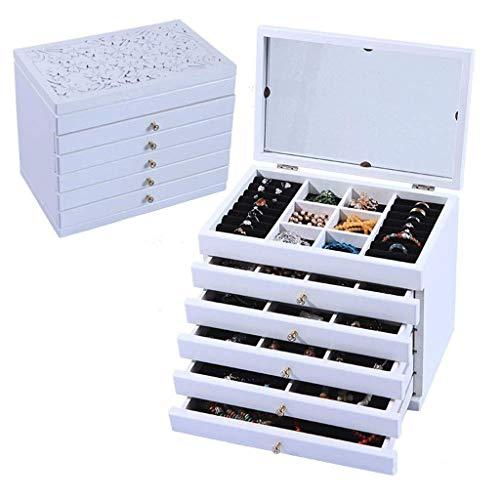 WYBFZTT-188 Caja de joyería Collar Anillo Organizador de Almacenamiento Cuero sintético Estuche de Regalo de gabinete de Joya Grande (Color : Style 2)