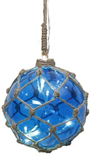 Star 457-32 bille en verre Noah avec 8 DEL, env. 12 cm Ø, 0.24 W, Bleu, 14 x 12 x 12