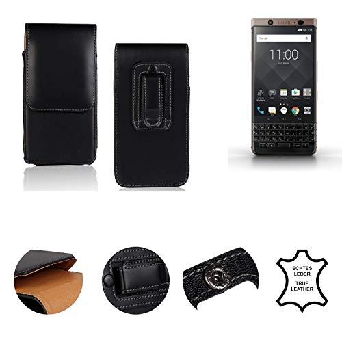 K-S-Trade® Holster Gürtel Tasche Für BlackBerry KEYone Bronze Edition Handy Hülle Leder Schwarz, 1x