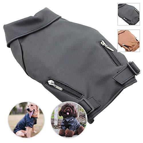 lovelonglong Stellt dlc-07cb dlc-l07cb Pet Kleidung Hund Leder Mantel Jacke für kleine Mitte große Hunde schwarz braun Leder Jacken sehr cool, XL, schwarz