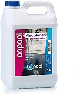 Onpool - Floculante liquido 5 L para Piscina o SPA - Permite un Agua Limpia y centelleante reuniendo Las particulas de Suciedad mas pequenas y haciendolas filtradas por su Sistema de depuracion