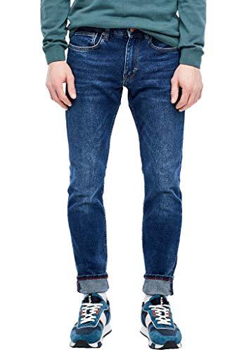 s.Oliver Herren Slim Fit: Slim leg-Jeans blue stretched den 32.34