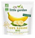 Little Garden - Snack de fruits craquants 100% Banane Bio sans sucres ajoutés -- Lot de 6...