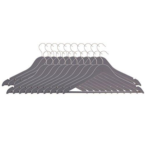Premier Housewares–Set di 20grucce per Abiti, Opaco, Legno, Grigio, 1x 45x 24cm