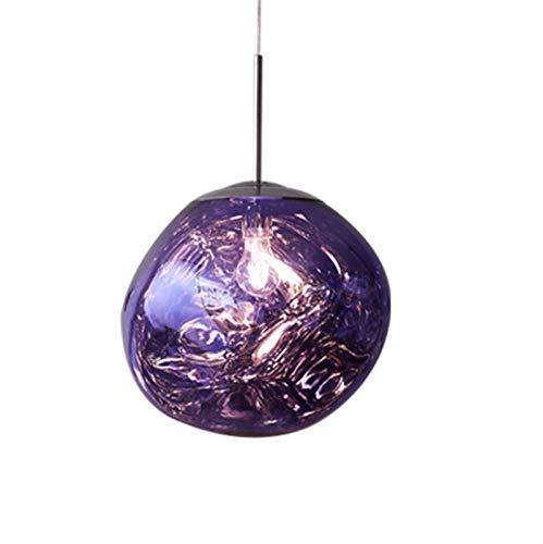 Lámparas colgantes de lámparas de la bola de la bola de la bola de lava del LED nórdico Lámparas colgantes de la Cocina de Dormitorio E27 Lámpara de fundición de la personalidad (púrpura, rosa)