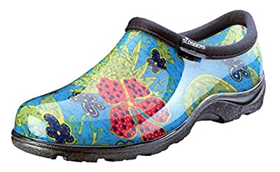 Sloggers Women's Waterproof Rain and Garden Shoe with Comfort Insole, Midsummer Blue, Size 10, Style 5102BL10