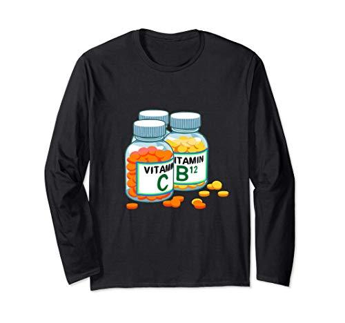 Vitamins Health Nut Dietitian Nutritionist Long Sleeve T-Shirt