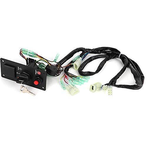 Interruptor de corte de encendido BRP de un solo motor con llaves aptas para Honda Outboard 06323-ZZ5-764 06240-ZW5-U20 Control remoto del barco Control remoto del barco individual Caja de control rem