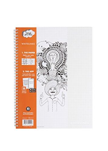 Whitelines WL101 Link A4 Squared Notebook, 80 g Papier, 60 Blatt