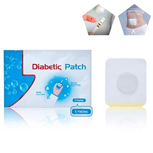 30 Stück Diabetiker Patch Natürliche, Keep Blut Zucker Balance Behandlung Kontrolle Blutzucker Pflaster Natürliche Kräuter Reduzieren Hohen Blutzucker Aufkleber(Eine Packung enthält 6 Stück) (20)