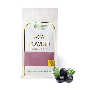 ACAI Polvo   Extracto de Bayas Crudas   250g 8.8oz   100% Natural & Sin Azúcar