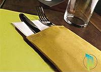 palucart® 1000 buste portaposate colore avana carta paglia con tovagliolo doppio velo
