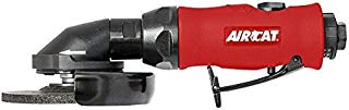 """AIRCAT 6340 4 1/2"""" One-Handed Grinder, Small, Red/Black"""