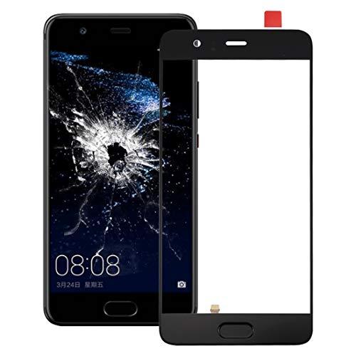 La selección de Cici For Huawei P10 Pantalla Plus Delantera Exterior de la Lente de Cristal, Soporte identificación de Huellas Dactilares (Negro) (Color : Black)