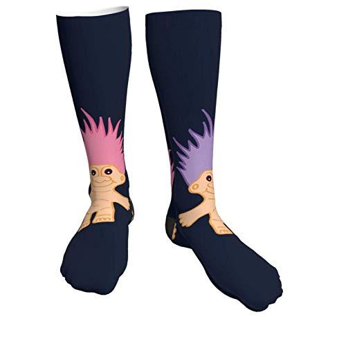Herrensocken, schwer, dick, Lucky Trolls, weich, bequem, Crew-Socken, lässig, athletisch, 50,8 cm lang