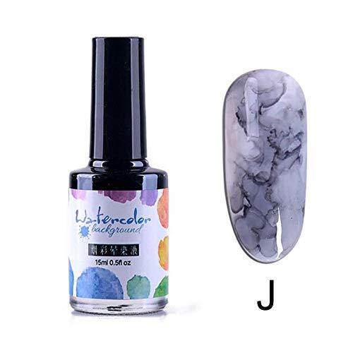 Blue Vesse Nagellack Marmor Muster Nagellack Tinte Gel Farbverlauf Nail Art Maniküre Dekor 9#