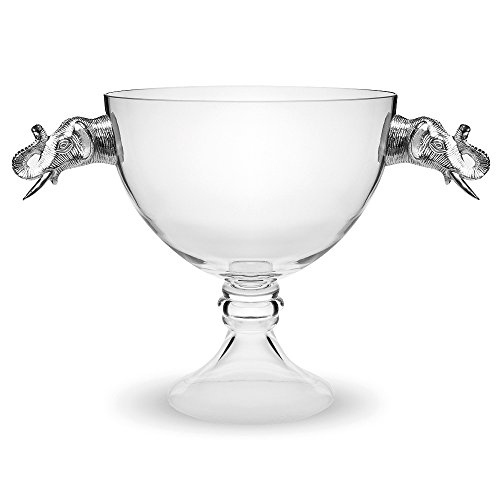 Culinary Concepts Large Elephant Pedestal Glass Serving Bowl