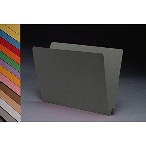14PT 회색 폴더 전체 컷 2 겹 끝 탭 문자 크기(50 상자)