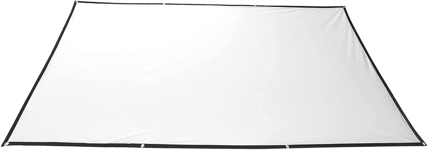 Projection Movies Screen, Mini White Projector Screen Polyester 160-degree Viewable Range for Office for Home(120 inches (265150cm))