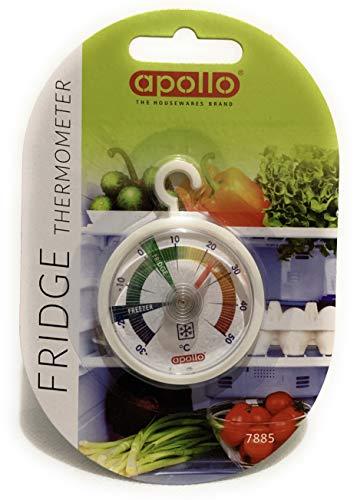Apollo Fridge Freezer Thermometer, Multi-Colour, 10x15x1.8