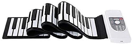 Klaviere Keyboards Blautooth Faltbare 88 Tasten Flexibles, Weißhes Silikon Elektrisches Digitales Roll-Up-Keyboard-Piano mit USB-MIDI-Ausgang Aufnahme Programmieren Playback-Tutorial Elektronische USB