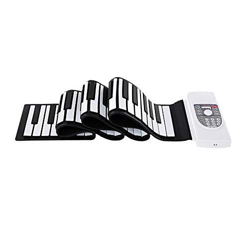Electronic Keyboards Mit USB-MIDI-Ausgang Aufnahme Programmieren der Wiedergabe Tutorial Sustain Vibrato Funktionen Eingebauter Lautsprecher Kopfhörerbuchse Fußpedal Bluetooth faltbare 88 Tasten Flexi