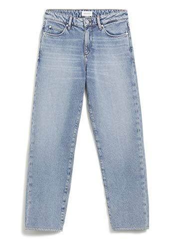 ARMEDANGELS FJELLAA Cropped - Damen Jeans aus Bio-Baumwolle 30/32 Mid Blue Denims / 5 Pockets Straight Langer Schnitt