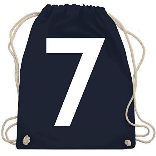 American Football - Football Pittsburgh 7 - Unisize - Navy Blau - football bag - WM110 - Turnbeutel und Stoffbeutel aus Baumwolle