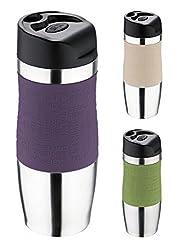 Thermobecher - Trinkbecher - Edelstahl/Kunststoff - 400 ml - Isolierbecher - Kaffeebecher - Coffee to go Becher - Farbe wählbar, Farbe:Lila