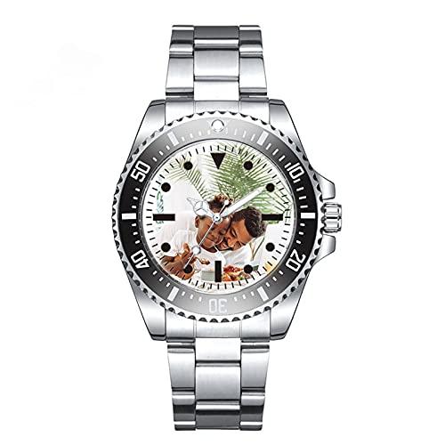 Reloj Personalizado Con Foto Para Hombre Reloj Grabado Personalizado Reloj Ajustable(negro ajustable)