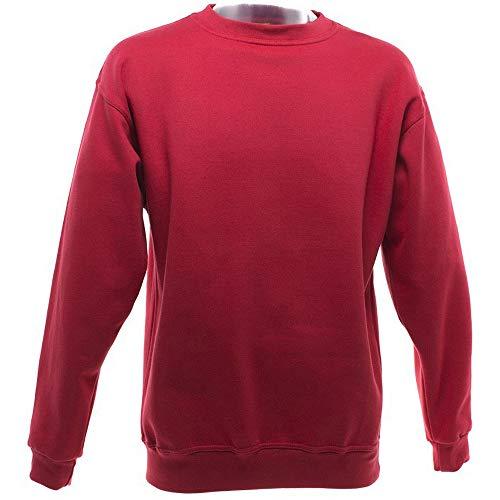 UCC - Sweatshirt uni épais - Adulte unisexe (4XL) (Rouge)