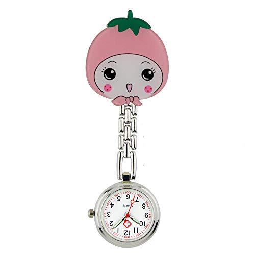 B/H Reloj de Bolsillo Enfermera Cuarzo,Luminoso Lindo Reloj de Enfermera,Reloj de Bolsillo Impermeable para médicos-C,Medico Reloj de Bolsillo para Doctor