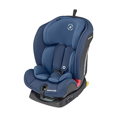 Maxi-Cosi Titan Toddler/Child Car Seat Group 1-2-3, Convertible Multi-Stage Forward Facing, Reclining ISOFIX Car Seat, 9 Months - 12 Years, Basic Blue