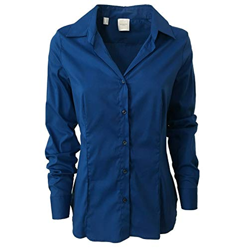 ZANETTI 1965 Camicia Donna Cotone Bluette Slim Fit MOD ZA 0029 (IT 48)