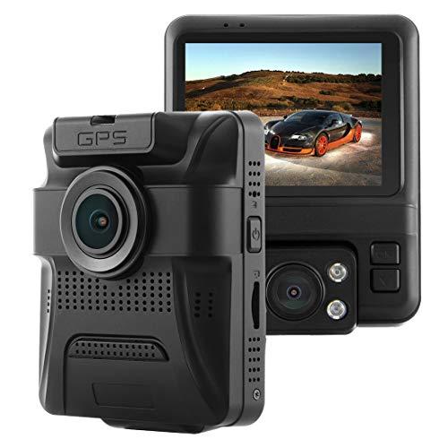 YANTAIAN GS65H Car DVR Camera Pantalla LCD de 2.4 Pulgadas HD 1080P Amplio ángulo de visión de 150 Grados, Soporte Motion Detection/TF Card/G-Sensor/HDMI (Color : Black)