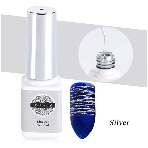 Silver Spider Gel,Nail Stickers Art Matrix Gel with Gel Paint Design Nail Art Wire Drawing Nail Gel...