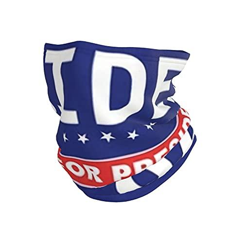 best& Joe Biden - Polaina para cuello con bandera, protección solar, transpirable, tela de seda fría, reutilizable, multifunción, para pesca al aire libre, senderismo, correr, ciclismo