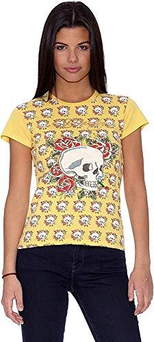 Ed Hardy Camiseta Calaveras Amarillo L